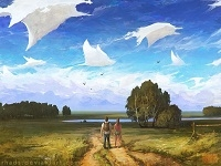 Цифровые картины Артёма Чебохи
