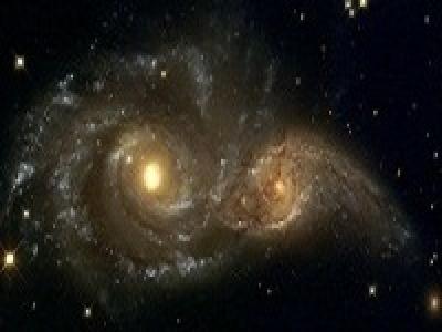 Взаимодействующие галактики IC 2163 и NGC 2207